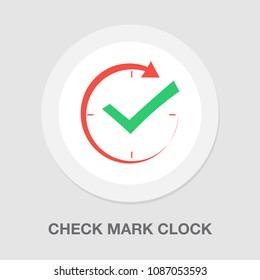 check mark clock icon