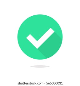 Check mark flat icon vector