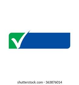 check mark frame. logo vector.