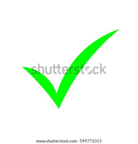 vetor stock de check mark green livre de direitos 599771015