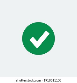 Check mark green line icons. Vector illustration. - Vector