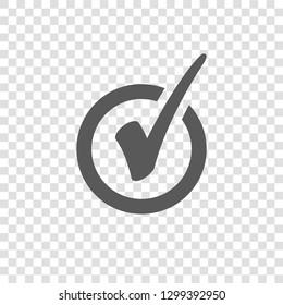 Check Mark Icon in Circle. Tick Symbol
