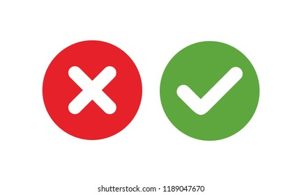 check mark icon , Cross mark vector illustration. symbol for web site Computer and mobile vector.