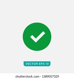 Check Mark Icon Design, Vector EPS10