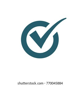 Check mark icon design,vector