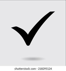 Check mark icon. Flat design style. Vector EPS 10.