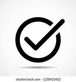 Check mark icon. Flat icon. Vector