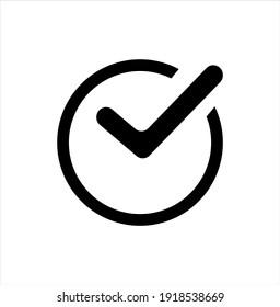 check mark icon illustration design element vector.