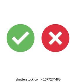Check mark icon isolated on white background
