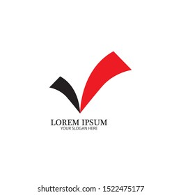 check mark icon logo element illustration.check mark symbol design.check mark conception can be used in web and mobile-vector