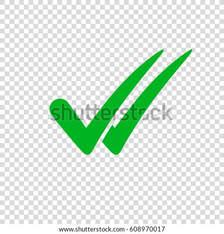 check mark icon on transparent background stock vector royalty free