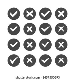 Check Mark Icon Set, vector illustration