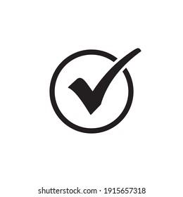 check mark icon symbol sign vector