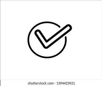 Check mark icon symbol vector - Vector