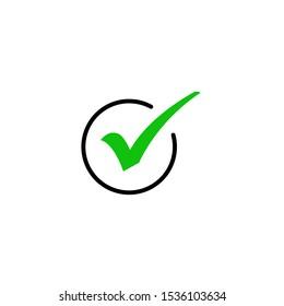 check mark icon, symbol for web site Computer and mobile