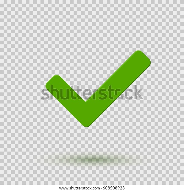 Check Mark Icon Symbol Yes Ok Stock Vector (Royalty Free