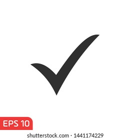 check mark icon icon template color editable. checklist symbol vector sign isolated on white background vector illustration for graphic and web design.