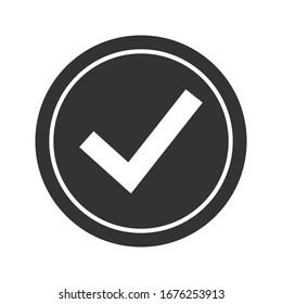 Check mark icon. tick symbol. Vector check icon