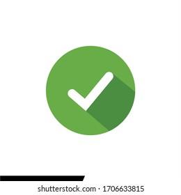 Check mark icon vector. Checklist icon