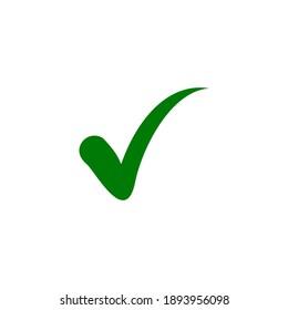 Check mark icon vector. Checklist icon symbol illustration. Verify, confirm icon