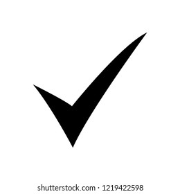 Check mark icon vector. Flat icon checklist mark symbol