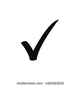 Check mark icon vector. Flat icon checklist mark symbol