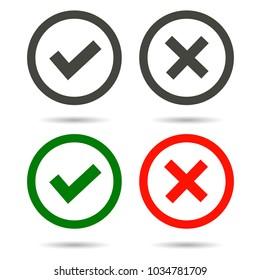 Check mark icon, vector illustration.