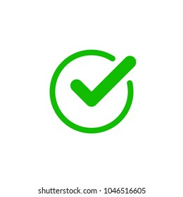 Check mark icon. Vector check mark. Vector illustration, color easy to edit. Transparent background. Green checkmark.