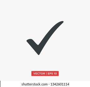 Check Mark Icon Vector Illustration