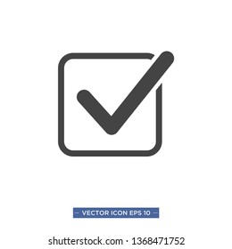 check mark icon vector illustration