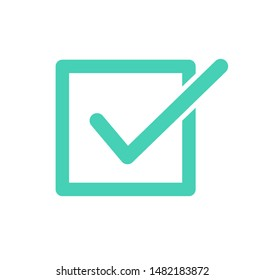 Check mark icon. Vector illustration. on white background