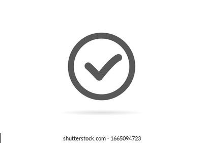 Check mark icon VECTOR. Tick symbol in green color,Check mark icon VECTOR illustration. Check mark icon VECTOR Checklist button