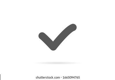 Check mark icon VECTOR. Tick symbol in green color,Check mark icon VECTOR illustration. Check mark icon VECTOR Checklist button