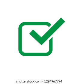 Check mark Icon yes symbol Logo Template