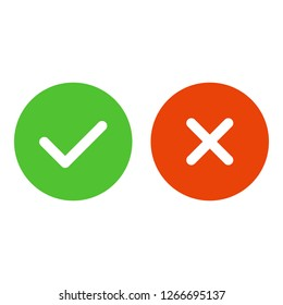 Check Mark Icons on white background. Vector objects