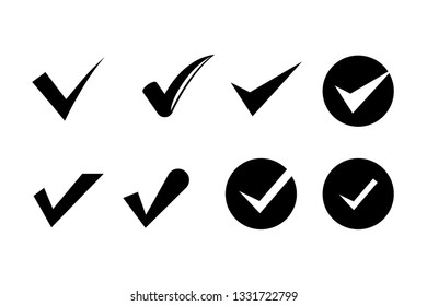check mark icons set