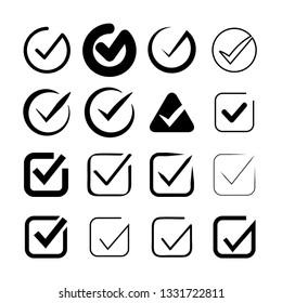 check mark icons set