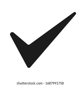 Check mark isolated vector icon. Confirmation, approvement symbol.