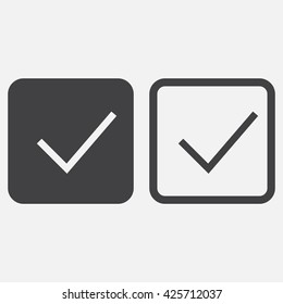 Check mark line icon, outline and solid vector logo, linear pictogram isolated on white, pixel perfect illustration