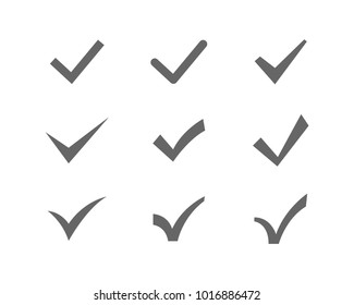 check mark and list icons stock vector