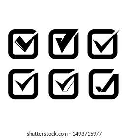 check mark and check list symbols set