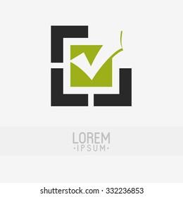 Check mark logo design