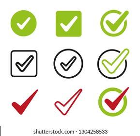 Check mark logo vector or icon