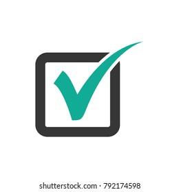 check, check mark logo vector, check mark vector icon, check mark in box sign