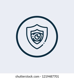 Check mark with shield icon vector logo template