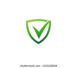 Check mark shield logo
