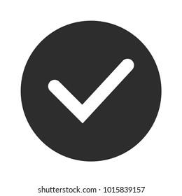 Check mark simple vector icon.