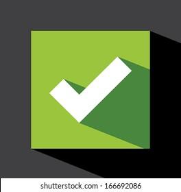 Check mark sticker