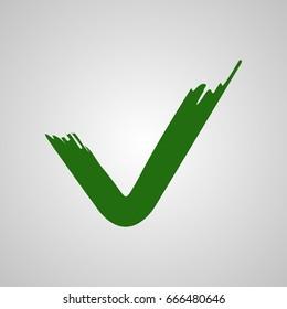 Check mark stickers. Vector.