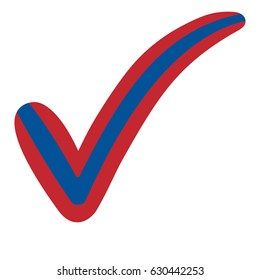 check mark style Mongolia flag symbol elections, voting and approval, vector concept check mark tick Mongolia, Constitution